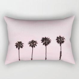 Palm Trees with a Pink Sky Rectangular Pillow