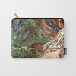 Green Rust Black Brown Lava Flow Carry-All Pouch