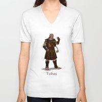 valar morghulis V-neck T-shirts featuring Tulkas by wolfanita