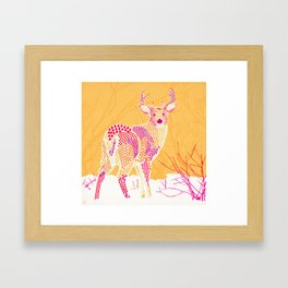 Stag Points Framed Art Print