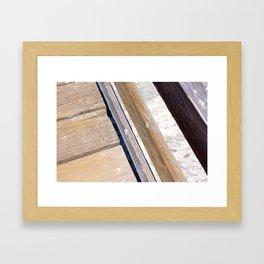 Boards of Wood Framed Art Print