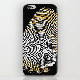 Gold Finger iPhone Skin