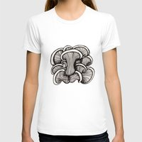 mushrooms T-shirts featuring Mushrooms by Freja Friborg