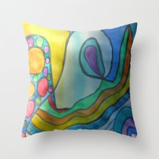 Fear of Being Really You Throw Pillow