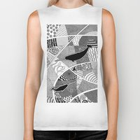 narwhal Biker Tanks featuring Narwhal by K J Guindon