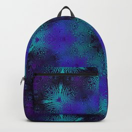Cyan, Blue, and Purple Kaleidoscope 3 Backpack