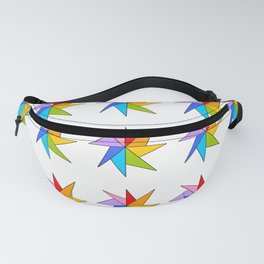 Stars 9- sky,light,rays,pointed,hope,estrella,mystical,spangled,gentle Fanny Pack