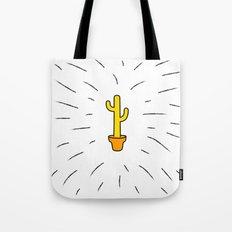 Gold Cactus Tote Bag