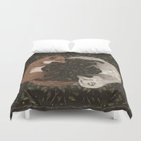foxes Duvet Covers featuring Foxes by Jessica Roux