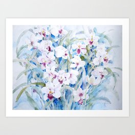 Cymbidiums Art Print