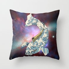 Koi japanese fish number two Throw Pillow