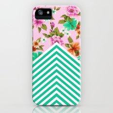 Tropical Floral Chevron iPhone (5, 5s) Slim Case