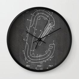 Rock Climbing Patent - Climber Art - Black Chalkboard Wall Clock