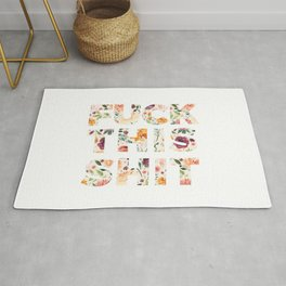 Flowery Language: Fuck This Shit Rug