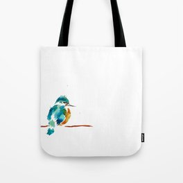 Golden Kingfisher Tote Bag