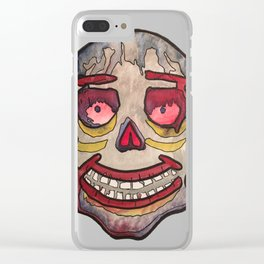 Day of the Dead Skull 3/4 Clear iPhone Case
