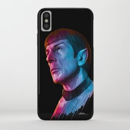 "Homage to Leonard Nimoy - Mr. Spock ""Star Trek"" (colored version) iPhone Case"