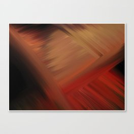 Interconnectedness in Gold, Tan and Orange Blends Canvas Print