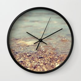 Bubbles on the Beach Wall Clock