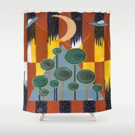 Lights in the Sky #2 Shower Curtain