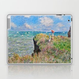 Claude Monet Cliff Walk At Pourville 1882 Laptop & iPad Skin