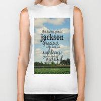 percy jackson Biker Tanks featuring Jackson by KimberosePhotography