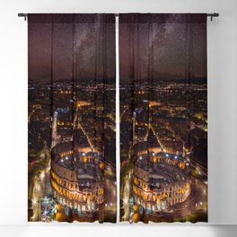Nightscape in Rome Blackout Curtain
