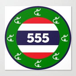 Thai flag roundel  555  HA HA HA Canvas Print