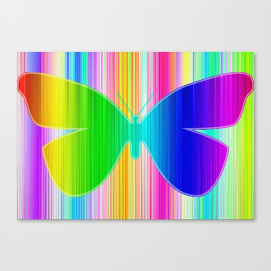 Colored butterfly Canvas Print