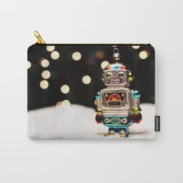 Robot in the Snow Winter Scene Carry-All Pouch