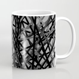 Kerplunk Extended Black and White Coffee Mug