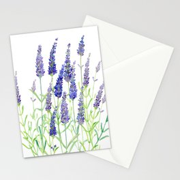 Watercolor Lavender Bouquet Stationery Cards