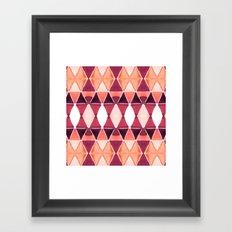 Art Deco Triangles Orange Framed Art Print