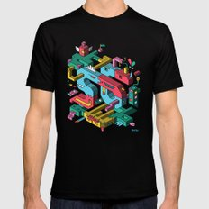 Font of all Known Ledges MEDIUM Black Mens Fitted Tee