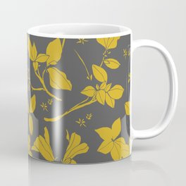 Drawings from Stonecrop Garden, Pattern in Gold & Grey Coffee Mug