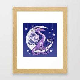 Vendel Dragon - the moon Framed Art Print