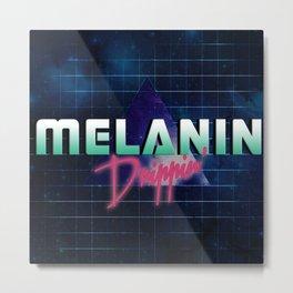 Melanin Drippin' Metal Print