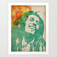 reggae Art Prints featuring reggae poster by Fan Prints