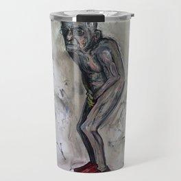Broke Billionaire (oil on canvas) Travel Mug