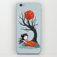 Girl and a Fox 2 iPhone & iPod Skin