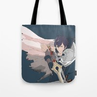 fire emblem awakening Tote Bags featuring Chrom - Fire Emblem Awakening  by MKwon