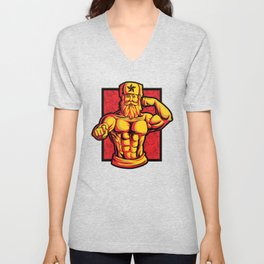 Soviets At The Gym | Fitness Training Muscles Unisex V-Neck