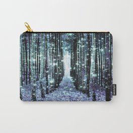 Magical Forest Lavender Aqua/Teal Carry-All Pouch