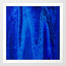 Boxy Blues Art Print