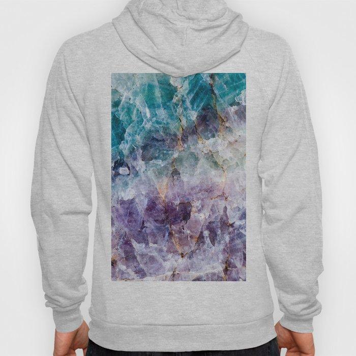 Turquoise & Purple Quartz Crystal Hoody