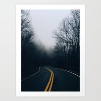 Winding Mountain Roads Art Print