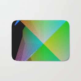 RGB (red gren blue) pixel grid planes crossing at right angles Bath Mat