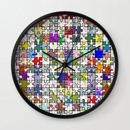 Jigsaw junkie Wall Clock