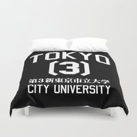 evangelion Duvet Covers featuring TOKYO-3 CITY UNIVERSITY by paragraph