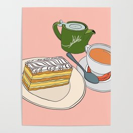 Aftenoon Cake Treat Poster